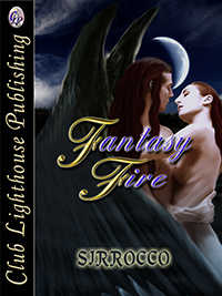 cover design for the book entitled Fantasy Fire