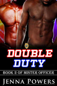 cover design for the book entitled Double Duty (Interracial Black MM / White F Erotic Romance)