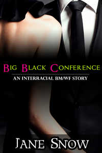 cover design for the book entitled Big Black Conference (Interracial BMWF Erotica)