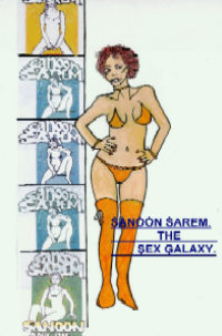 cover design for the book entitled Sanoon Sarem - The Sex Galaxy