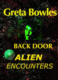 cover design for the book entitled Back Door Alien Encounters