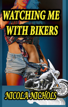 cover design for the book entitled Watching Me With Bikers