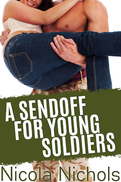 cover design for the book entitled A Sendoff for Young Soldiers