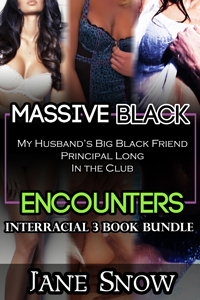 cover design for the book entitled Massive Black Encounters (Interracial Bundle)
