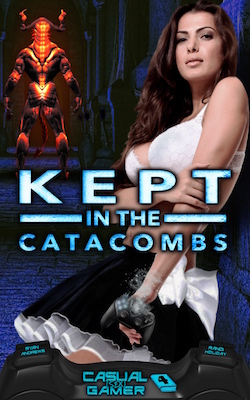 cover design for the book entitled Kept in the Catacombs