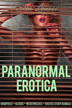 cover design for the book entitled Paranormal Erotica