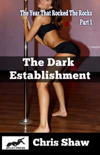 cover design for the book entitled The Dark Establishment