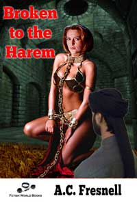 cover design for the book entitled Broken To The Harem