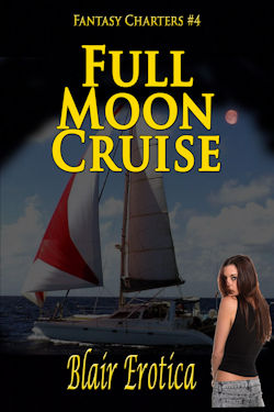 cover design for the book entitled Full Moon Cruise