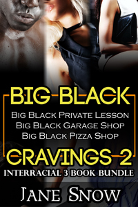 cover design for the book entitled Big Black Cravings 2 (Interracial 3 Book Bundle)