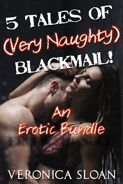 cover design for the book entitled 5 Tales of (Very Naughty) Blackmail!