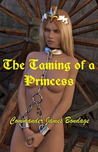 cover design for the book entitled The Taming Of A Princess