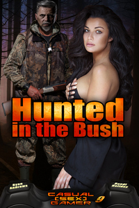 cover design for the book entitled Hunted in the Bush
