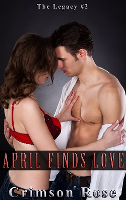 cover design for the book entitled April Finds Love