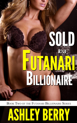 cover design for the book entitled Sold to a Futanari Billionaire