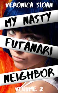 cover design for the book entitled My Nasty Futanari Neighbor - Volume 2