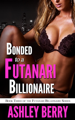 cover design for the book entitled Bonded To The Futanari Billionaire