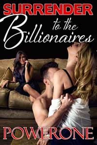 cover design for the book entitled Surrender to the Billionaires