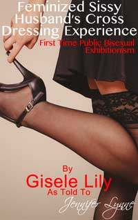 cover design for the book entitled Feminized Sissy Husband's Cross Dressing Experience