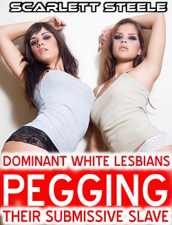cover design for the book entitled Dominant White Lesbians Pegging Their Submissive Sub