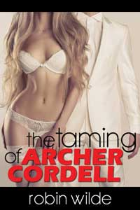 cover design for the book entitled The Taming of Archer Cordell