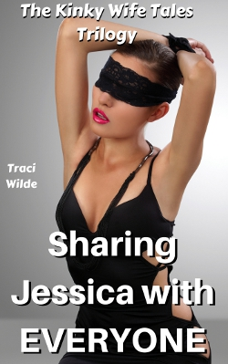 cover design for the book entitled Kinky Wife Tales: Sharing Jessica With EVERYONE