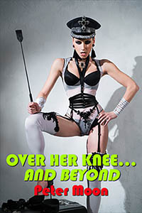 cover design for the book entitled Over Her Knee... and Beyond