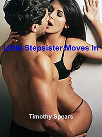 cover design for the book entitled Little Stepsister Moves In