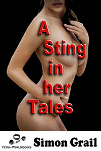 cover design for the book entitled A sting in her Tales