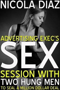 cover design for the book entitled Advertising Exec's Sex Session With Two Hung Men To Seal A Million Dollar Deal