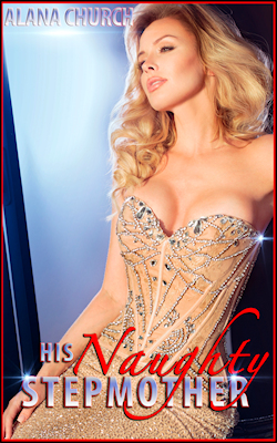 cover design for the book entitled His Naughty Stepmother