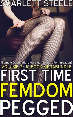 cover design for the book entitled First Time Femdom Pegged - Volume 2 - 10 Book MegaBundle