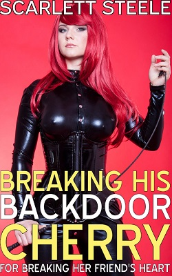 cover design for the book entitled Breaking His Back Door Cherry For Breaking Her Friend's Heart!
