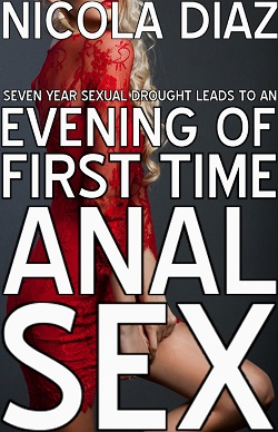 cover design for the book entitled Seven Year Sexual Drought Leads To An Evening Of First Time Anal Sex