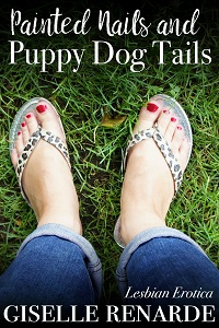 cover design for the book entitled Painted Nails and Puppy Dog Tails