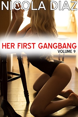 cover design for the book entitled Her First Gangbang - Volume 9