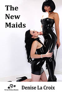 cover design for the book entitled The New Maids