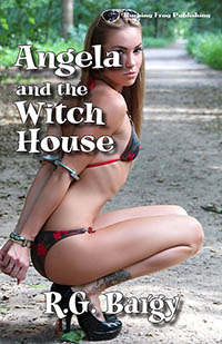 cover design for the book entitled Angela and the Witch House