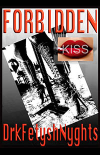 cover design for the book entitled FORBIDDEN KISS
