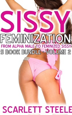 cover design for the book entitled Sissy Feminization - From Alpha Male to Feminized Sissy