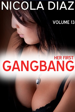 cover design for the book entitled Her First Gangbang - Volume 13