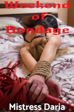 cover design for the book entitled Weekend of Bondage