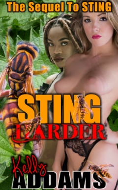 cover design for the book entitled Sting (Harder)