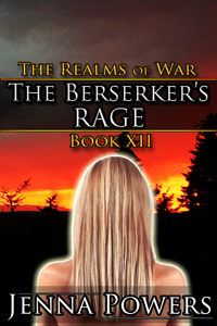 cover design for the book entitled The Realms of War 12: The Berserker