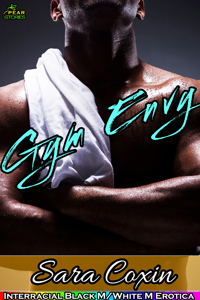 cover design for the book entitled Gym Envy (Gay Interracial Erotica)