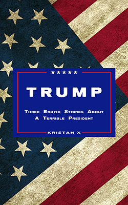 cover design for the book entitled Trump