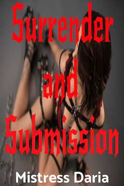 cover design for the book entitled Surrender and Submission