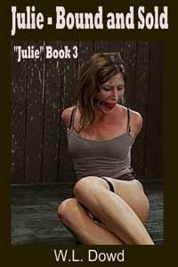 cover design for the book entitled Julie - Bound And Sold