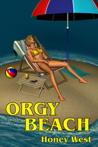 cover design for the book entitled Orgy Beach