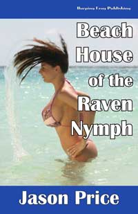 cover design for the book entitled Beach House Of The Raven-nymph